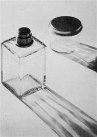 flacon et boîte en verre by andré vigneau