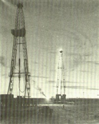 oil wells by night by arthur weaver