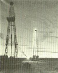 oil wells by night by arthur weaver
