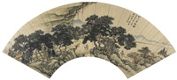 松溪策杖图 by ming jian