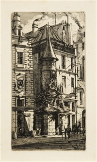 tourelle, rue de la tixéranderie by charles meryon