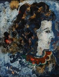 portrait féminin de profil by marguerite acarin