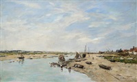 etaples. la canche. marée basse by eugène boudin