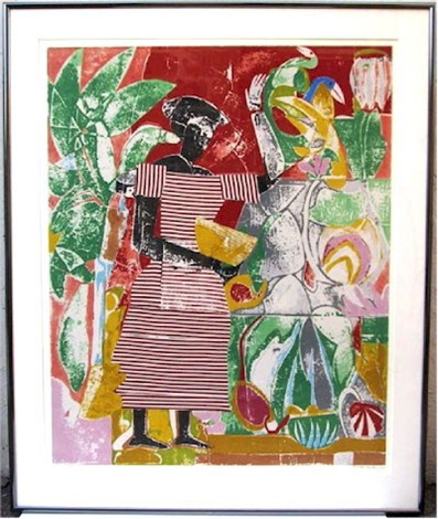 in the garden from the portfolio prevalence of ritual by romare bearden