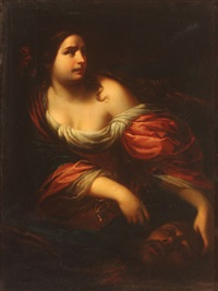 judith with the head of holofernes by simone pignoni
