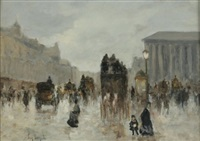 la place de la madeleine a paris a la belle epoque by eugenio scorzelli