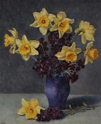 daffodils by kalman kemeny