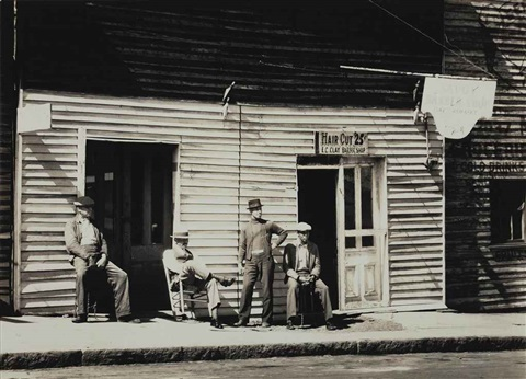 barbers shop southern town by walker evans