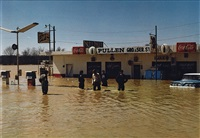 untitled (flood at a gas station) by william eggleston