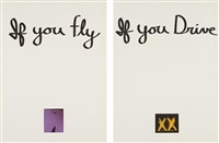 if you fly, if you drive (diptych) (set of 2) by chris burden
