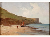 falaises normandes by armand auguste freret