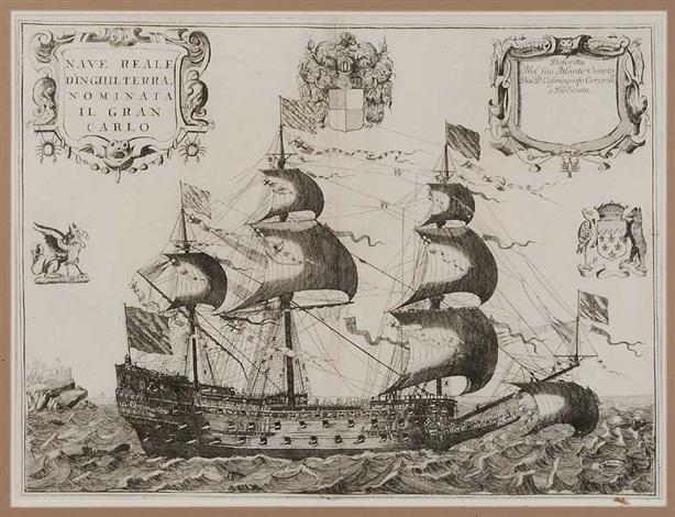 nave real dinghilterra nominate ii gran carlo by vincenzo maria coronelli