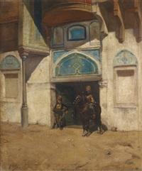 gardes d'un palais turc by a. cal