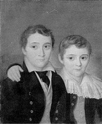 portrait of two boys by h.a. legffert