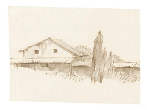 a villa surounded by trees by giovanni battista tiepolo