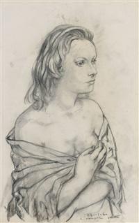portrait d'odette by léonard tsuguharu foujita