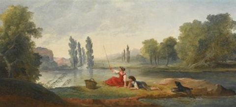 a fishing party by hubert robert