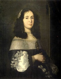retrato de dama by jan de baen