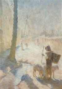 jeune berger au village by adam styka