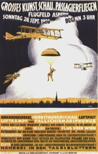 grosses kunst, schau u. passagierfliegen (by lematz) by posters: aviation
