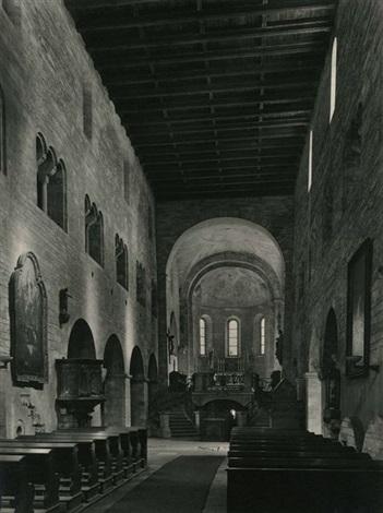 intérieur de la basilique saint georges prague by jaromir funke