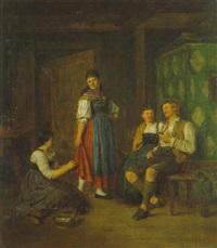 bäuerliches interieur by ludwig obersteiner