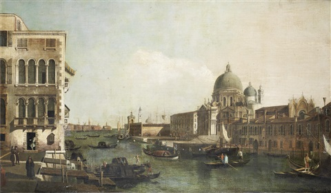 the grand canal with the church of santa maria della salute venice by bernardo bellotto