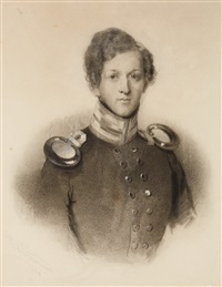 a portrait of a man in uniform by conrad l' allemand