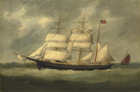 the quotcharles m wattsquot at sea by marie edouard adam