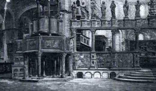 intérieur de léglise saint marc à venise by françois alaux