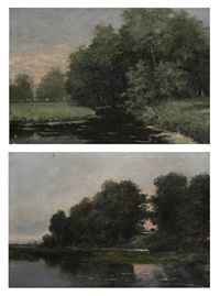 vue d'un lac (pair) by frans jan simons