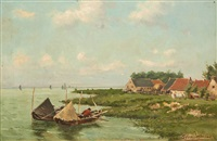 paysage hollandais by frans van damme
