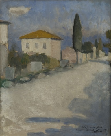 strada e case by ardengo soffici
