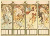 the seasons by alphonse mucha