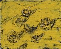 citrons coupés sur une table (cut lemons on a table) by miquel barceló