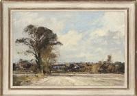 view over stodmarsh, summer sowing by matthew alexander