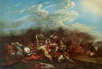 reitergefecht zwischen kaiserlichen und türken by pieter (janitzer or il geannizzero) hofmans