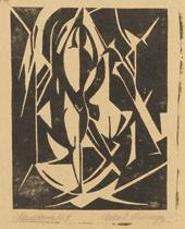 Figur im Strahlenraum, 1917