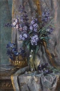 composition aux fleurs bleues by marguerite dielman