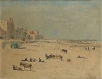 les ânes à la plage by sonia abeloos