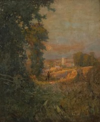 view outside kettering by sir alfred east