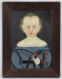untitled (portrait of child holding riding crop) by american school-prior-hamblen (19)