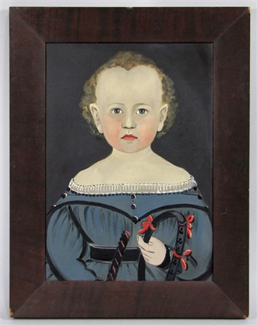 untitled portrait of child holding riding crop by american school prior hamblen 19