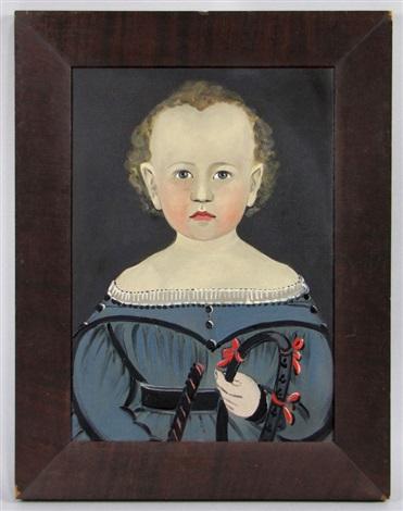 untitled portrait of child holding riding crop by american school prior hamblen 19