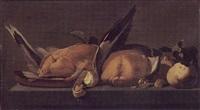 bodegón de aves by harmen van steenwyck