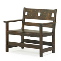 loveseat with cut-outs by charles limbert