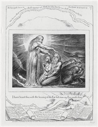 i have heard thee with the hearing of the ear but now my eyes see thee (from illustrations of the book of job) by william blake