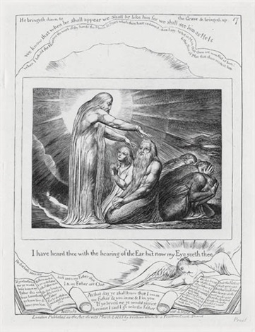 i have heard thee with the hearing of the ear but now my eyes see thee from illustrations of the book of job by william blake