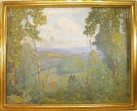 summer vista landscape by c. harry allis