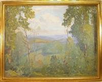 summer vista landscape by c. harry allis